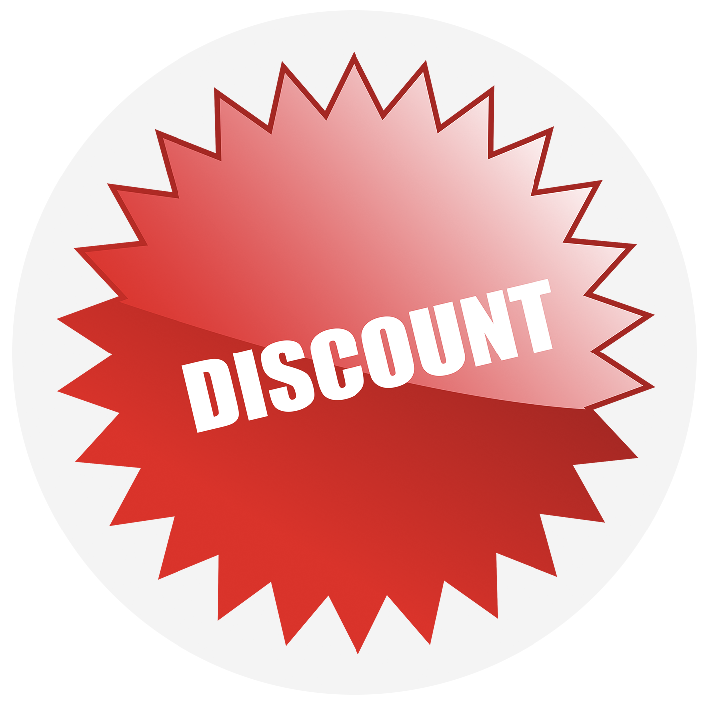 Red discount logo