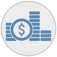 Coin stack icons
