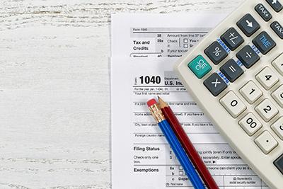 Close-up of calculator on desk
