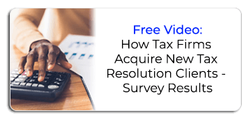 How Tax Firms Acquire New Tax Resolution Clients video